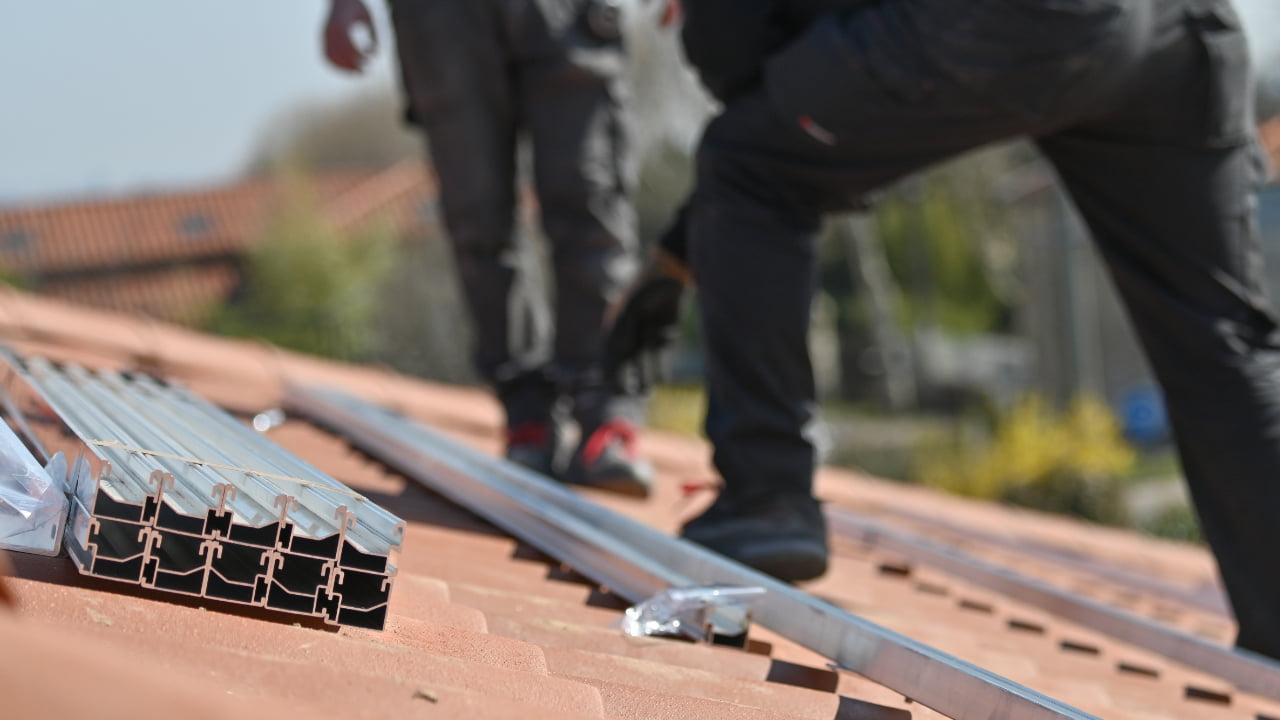 Builders debris can clog gutters