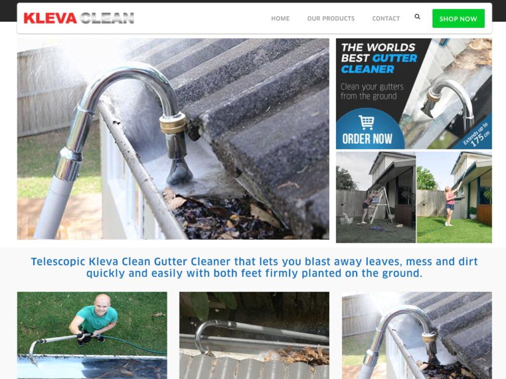Screenshot from the Kleva website